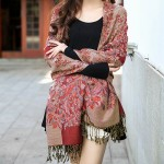 EOO+Premium floral shawl