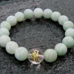 Jade Sanskrit Bracelet