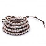 EOO+Natural Stone Wrap Bracelet (Rose quartz/Howlite)