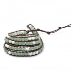 EOO+Natural Stone Wrap Bracelet (Aventurine/Howlite)