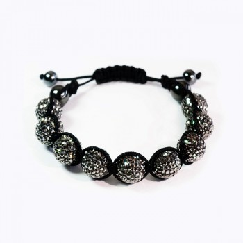 Twinkling bracelet of stars(Black diamond)